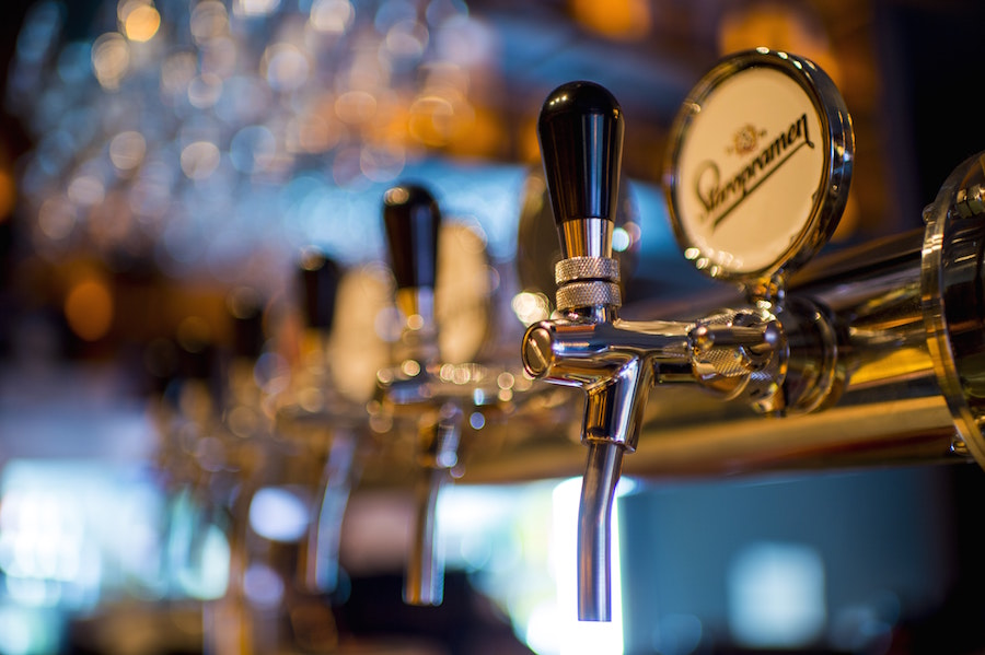 Beer taps at February events