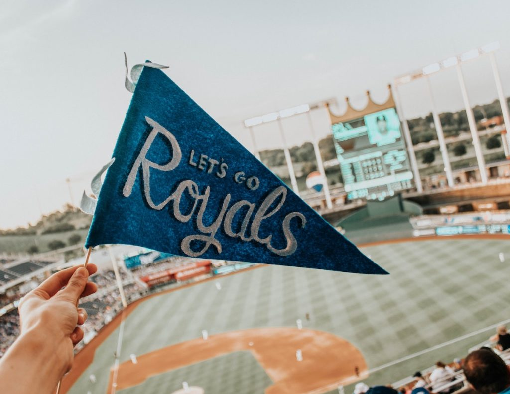 Fans at a Royals game